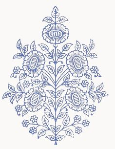 Embroidery Patterns, Hand Embroidery, Fabric Design, Pattern Design, Tattoo Stencils, Jacobean, Texture Art, Blue Fabric, Botanical Illustration