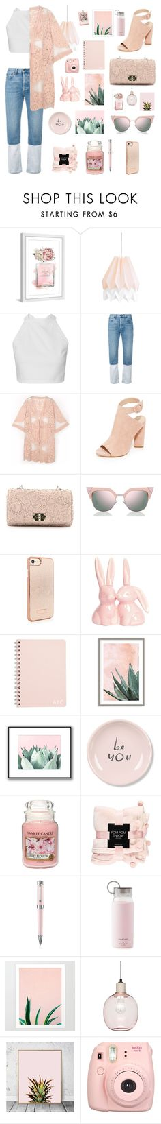 """Be you."" by totalteenagenobody ❤ liked on Polyvore featuring Marmont Hill, Ports 1961, Kendall + Kylie, Valentino, Fendi, Art Addiction, Fringe, Yankee Candle, Forever 21 and Montegrappa"