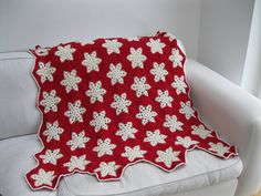 crochet snowflake blanket ..all done by elsy965, via Flickr