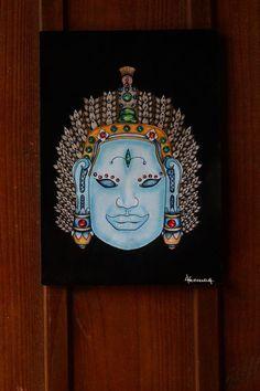 Buda Custom - Giz pastel, nanquim, aquarela,posca