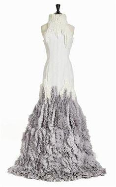 3d94daa24524 Lauritz.com - Wihlja, klänning i vit tyll på canvasbotten