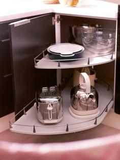 kücheneckschrank praktisch einrichten