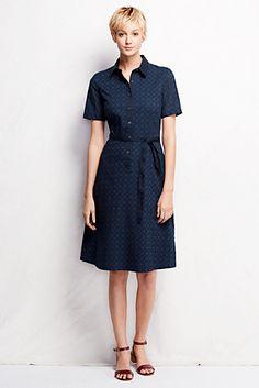Women's Short Sleeve Broderie Anglaise Shirtdress