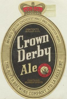 Crown Derby Ale by Thomas Fisher Rare Book Library, via Flickr