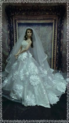 PKPP-338 Tyler Tonner FR16 Wedding  Gown dress outfit dolls 16""