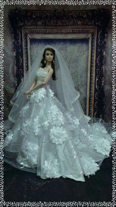"""PKPP-338 Tyler Tonner FR16 Wedding  Gown dress outfit dolls 16"""""""