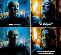 King Stannis Baratheon & Mance Rayder - Season 5 Episode 1