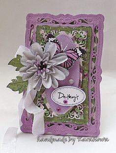 .: Fioletowo - zielona karteczka z podziękowaniem :) ...
