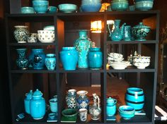 E's incredible collection of turquoise pottery - Iran, Turkey, Syrai