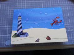 Lighthouse them. Handmade card by Kjones