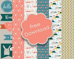 Get this adorable set of free fall themed printable papers for your autumn projects! The designs include foxes and bunnies, pretty clouds and lovely leaf illustrations. Plus tags and die-cuts. Head…