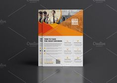 Corporate Flyer Template by Cristal Pioneer on @creativemarket