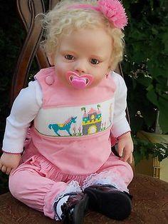 "Gorgeous 29"" Reborn Toddler Baby Girl Doll Lena by Regina Swialkowski Resell"