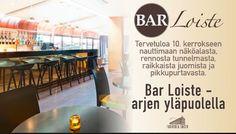 Original Sokos Hotel Vaakuna, Helsinki. Bar Loiste kaupungin kattojen yllä, huikeiden Helsinki-näköalojen äärellä, vie sinut arjen yläpuolelle. Nauti lasi hyvää viiniä ja oheen pikku purtavaa, kuten herkullinen Club Sandwich tai talon oma snadivalikoima. #barloiste #snadit #originalsokoshotelvaakuna #näköalaravintola #restaurant-with-a-view