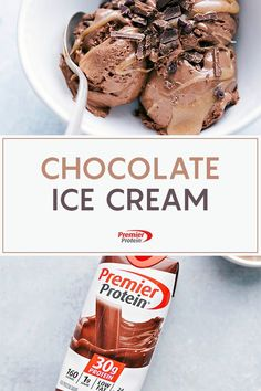 A recipe for Chocolate Ice Cream With Caramel Sauce from Premier Protein. Protein Snacks, Protein Dinner, Protein Desserts, Protein Ice Cream, Low Carb Ice Cream, Healthy Ice Cream, Protein Powder Recipes, Protein Shake Recipes, Smoothie Recipes