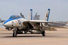 "USN Grumman F-14D Tomcat of VF-213 ""Black Lions"" Fighter Squadron."