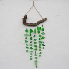 Sea glass and drift wood mobile by TheRubbishRevival on etsy.com