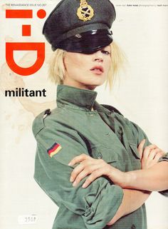 LIMEROOM military | Kate Moss for i-D, March 2001