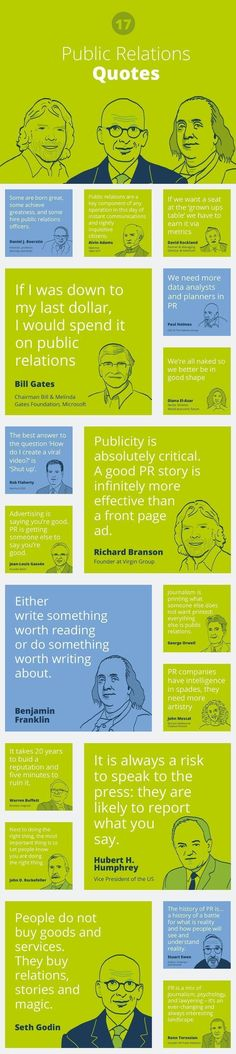 17 famous Public relations quotes by http://www.prezly.com #pr #publicrelations #publicrelationsquotes #publicrelationstips