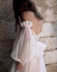 @kwhbridal via The Lane Wedding Dress Mermaid Lace, Simple Lace Wedding Dress, Spaghetti Strap Wedding Dress, Minimalist Wedding Dresses, Dress Lace, Lace Mermaid, Civil Wedding Dresses, Modest Wedding Dresses, Ball Dresses