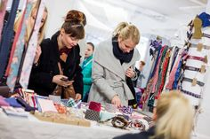 Busy day at Prague fashion market showcasing our ties, bowties and pocket squares.