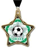 "Hasty Awards 2.25"" All-Star Insert Soccer Medals-for Z bday"