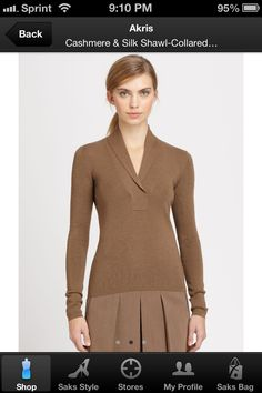 Tan v-cross sweater