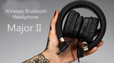 (51.74$)  Watch here  - BLUETOOTH WIRELESS PLAYTIME Headphones for Mar Major II Earphones come with retail box Free Shipping major 2 headphones