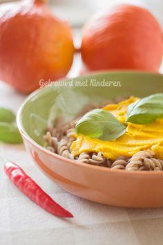 Vegan pompoen pastasaus