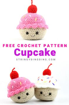 Crochet a cute and easy cupcake with this free amigurumi pattern! Visit my site to make it now. Make a cute and easy cupcake with this free pattern! Visit our site to make it now. Crochet Pattern Free, Crochet Patterns Amigurumi, Pattern Sewing, Cupcake Crochet, Crochet Food, Easy Crochet Animals, Cupcake Cupcake, Crochet Cats, Crochet Birds