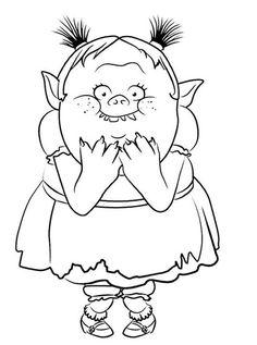 Coloring page Trolls: bridget