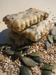 Sablés apéritifs : Lin, du Sésame, du Tournesol et de la Courge