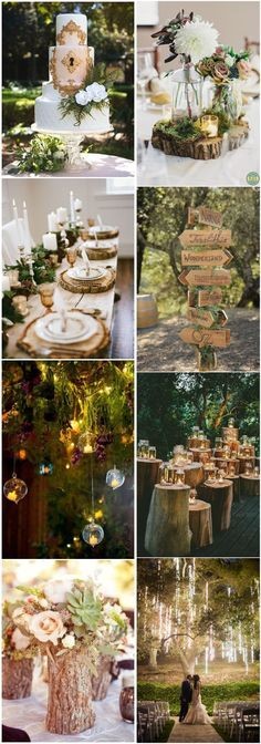 20+ Enchanted Forest Wedding Themed Ideas #weddings