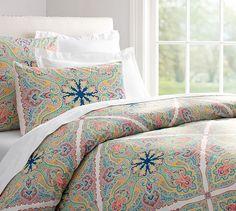 Penelope Organic Duvet Cover & Sham - Twilight Blue | Pottery Barn | Guest Bedroom
