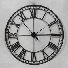 Extra Large Antique Black Metal Round Skeleton Wall Clock 120 cm Diameter NEW Wall Clocks Uk, Silver Wall Clock, Big Clocks, Large Clock, Large Wall Clocks, Large Wooden Clock, Clock Art, Skeleton Wall Clock, Oversized Clocks