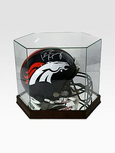 Peyton Manning Signed Denver Broncos Helmet ZsaZsa Bellagio: Guy Stuff