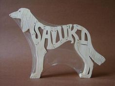 Saluki Dog Puzzle Wooden Toy Hand Cut with Scroll Saw by Puzzimals on Etsy https://www.etsy.com/uk/listing/49376776/saluki-dog-puzzle-wooden-toy-hand-cut