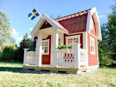 Lekstuga Saltängen från Lektema. Lekstugor som byggsats med hög kvalitet och precision. En lekstuga för både dig och barnen.