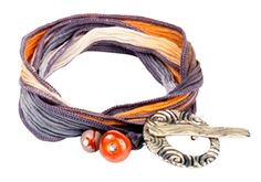 Soft Swirl Silk Ribbon Wrap Bracelet