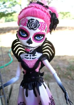 Monster High Custom Cupid Day of the Dead 2 by AdeCiroDesigns.deviantart.com on @deviantART