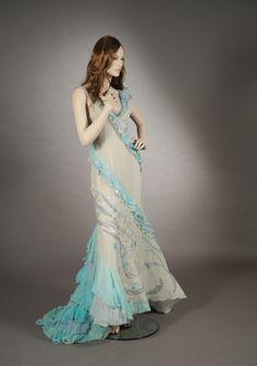 Dress with lace inserts - Abito con inserti di merletto