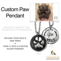 Custom Paw Print Pendant - Benefiting the Cesar Millan Foundation - Pennyroyal Studio