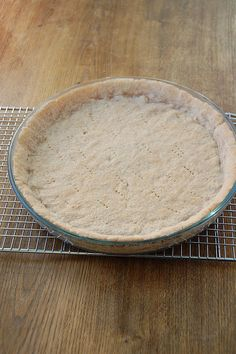 This is a recipe for a no-fail pie crust. There is no rolling involved and no tearing and no fuss. It's can be made up in a few minutes (under 5!) and bakes-up into a nice crispy crust in 8 minutes.