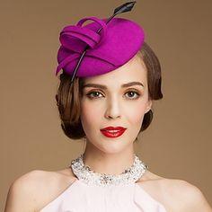 Lana de moda de las señoras de la boda / ocasión especial Fadora Sombrero Con Bowknot – EUR € 27.26