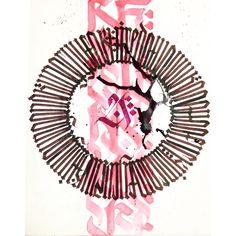 circle calligraphy calligram by shane huss mindfulrelease