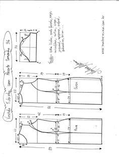 Patrón de vestido de verano con relieves laterales (costura y corte) | Revista Inspiración de la mujer de aguja
