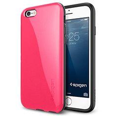 iPhone 6 Case, Spigen® [Anti-Shock] iPhone 6 (4.7) Case Bumper [Capsule Capella] [Azalea Pink] Advanced Surround Anti-Shock Slim TPU Case for iPhone 6 (4.7) (2014) - Azalea Pink (SGP11183) Spigen