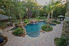 Pool Landscaping | Pool with Paver Deck - Dallas Landscape Design | Abilene Landscaping ...