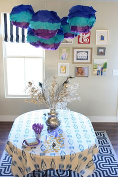 peacock themed party