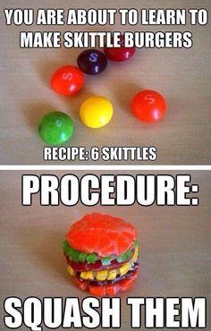 Skittle burgers